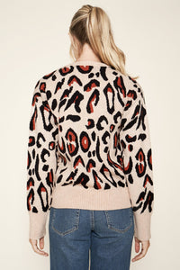 Charmed Leopard Print Sweater