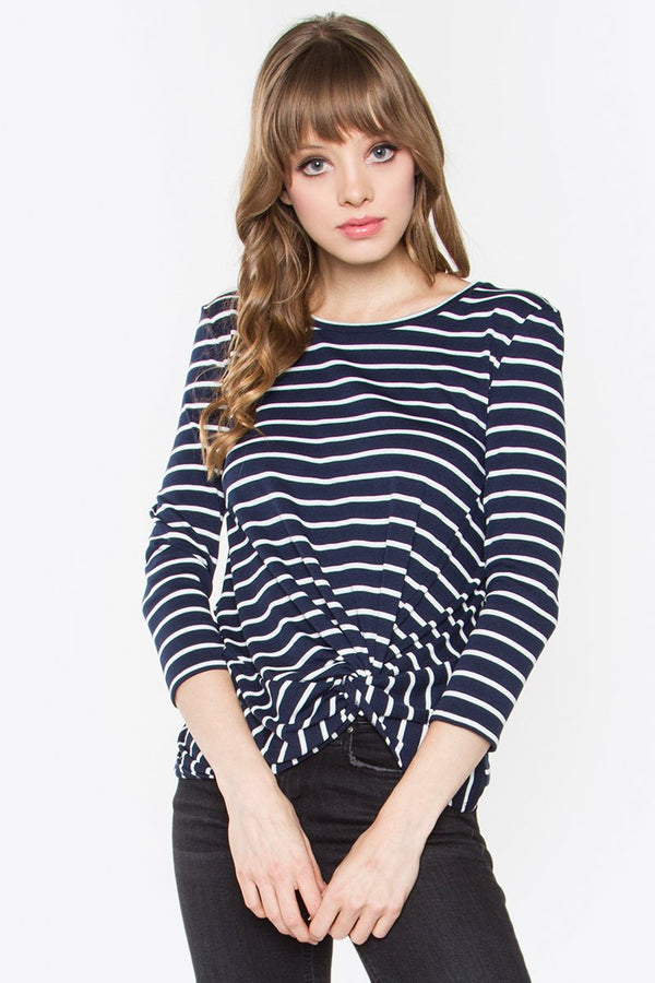 Margot Stripe Knit Top