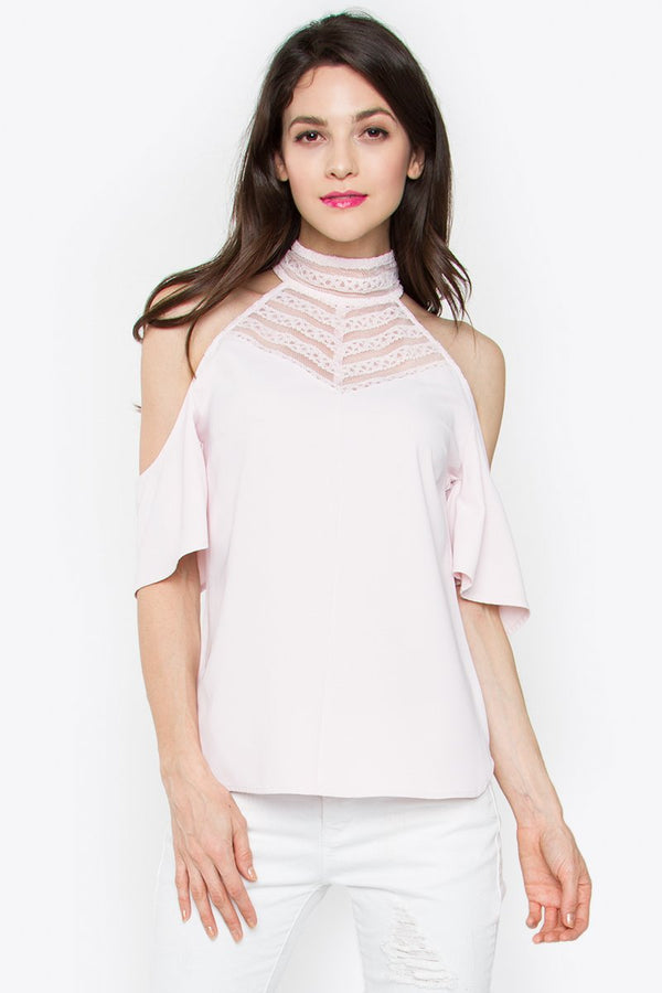 Rosartia Cold Shoulder Top