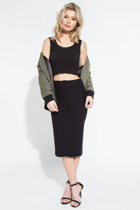 Textured Seamless Dress/Skirt