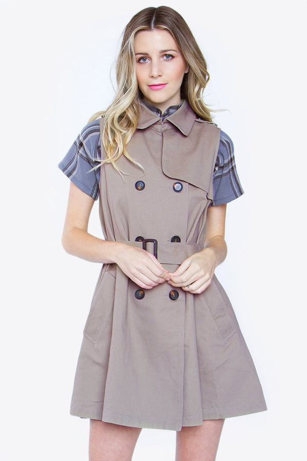 Parisian Chic Trench Vest