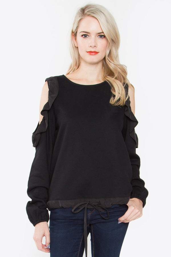 Renner Cold Shoulder Top