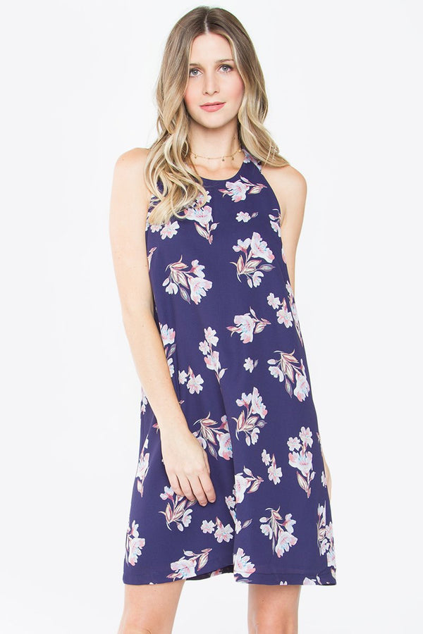 Barrie Printed Ruffle Dress