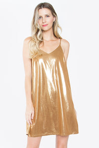 Pax Metallic Slip Dress