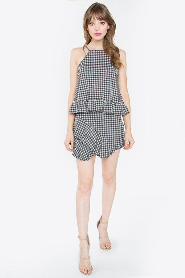 Shirley Gingham Mini Skirt