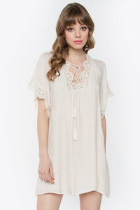 Adelia Lace Up Dress