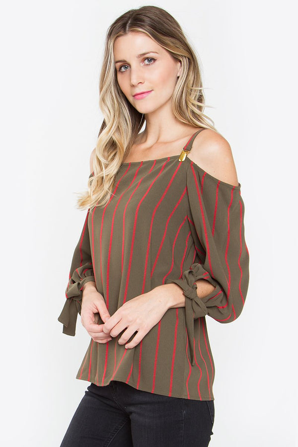Renata Cold Shoulder Shift Top