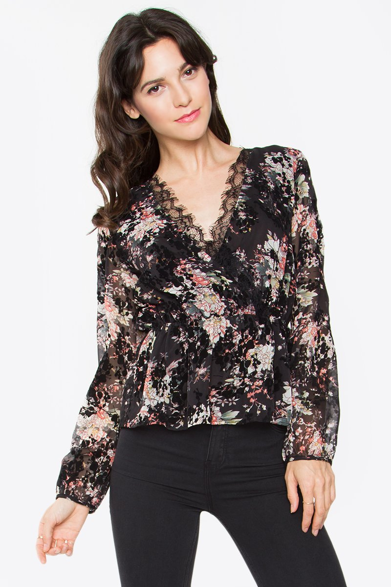 Marianne Velvet Blouse Top