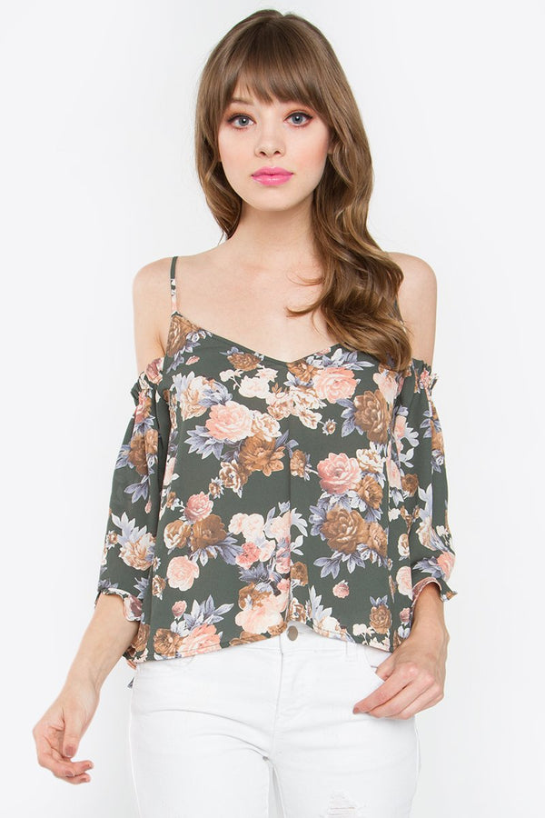 Lolita Cold Shoulder Top