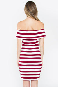Adeli Striped Off The Shoulder Dress