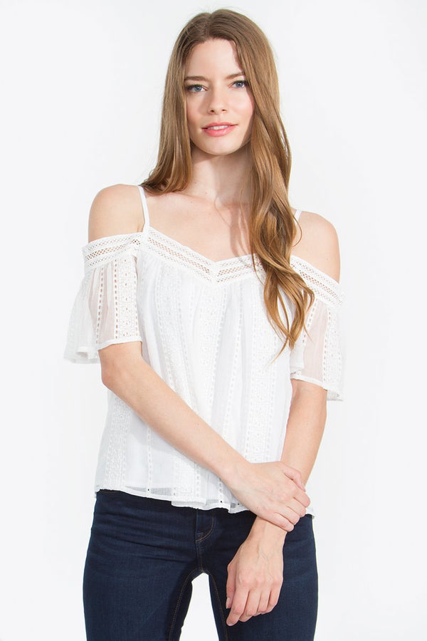 Alissa Open Shoulder Top