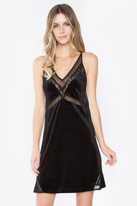 Myla Velvet Slip Dress