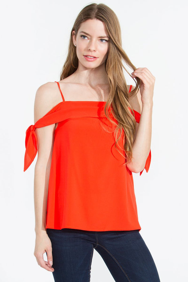 Liana Open Shoulder Cami Top