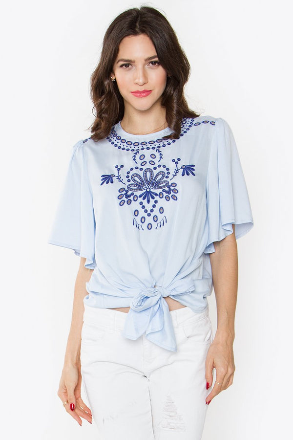 Bleu Belle Eyelet Top
