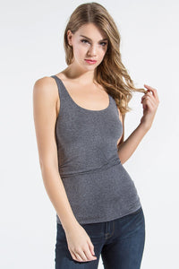 Seamless Scoop Neck Tank Top
