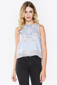 Vivi Chambray Top