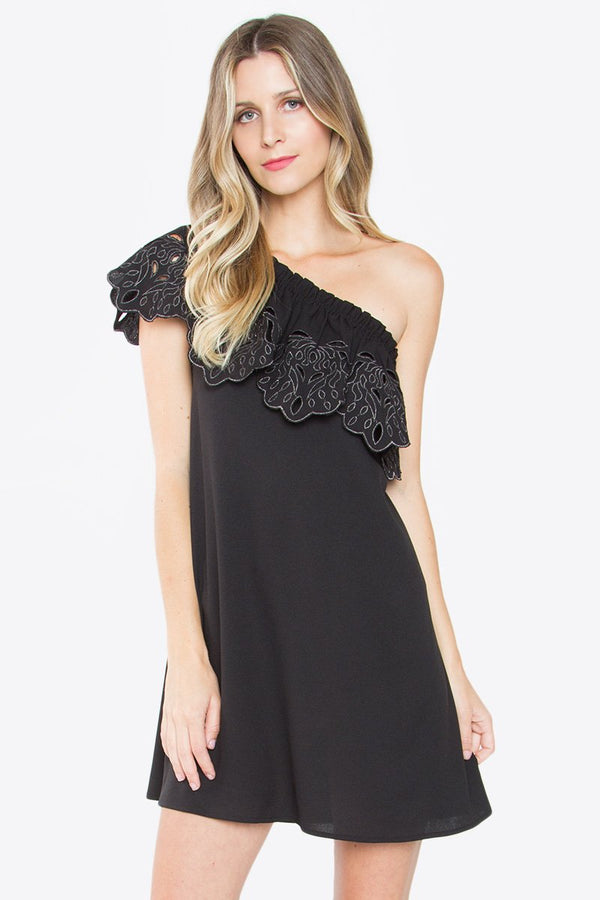 Corsette One Shoulder Dress
