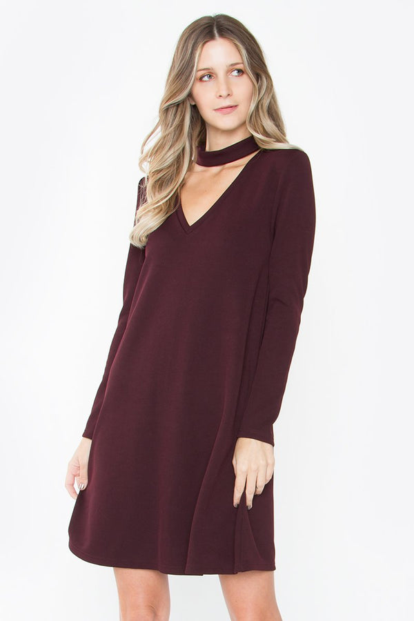 Saddie Choker Knit Dress