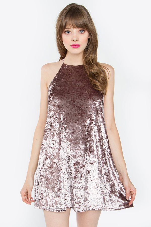 Rowena Velvet Mini Dress