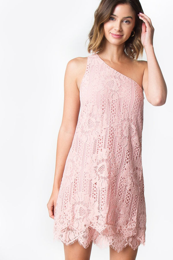Renee One Shoulder Lace Dress