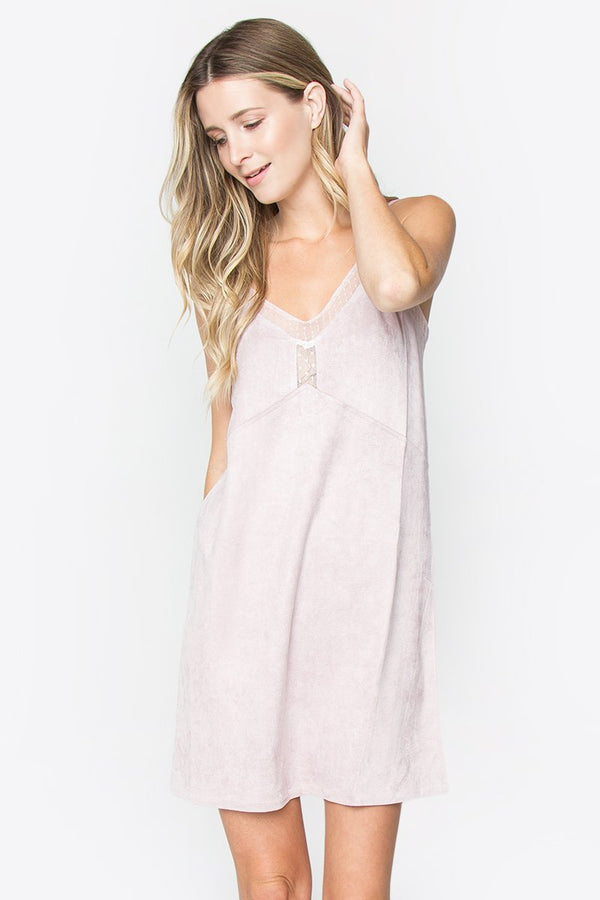 Brielle Suede Slip Dress