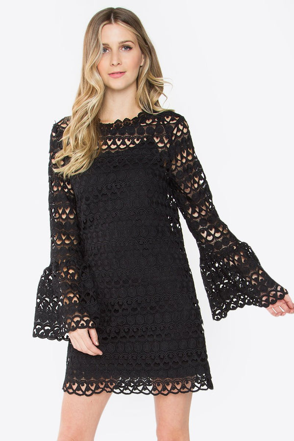 Landon Crochet Bell Sleeve Dress