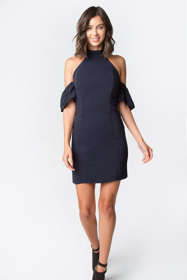 Beatnik Cold Shoulder Dress
