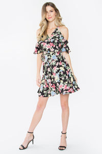 Budding Romance Cold Shoulder Dress