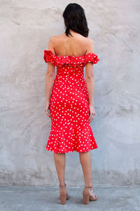 Collie Polka Dot Midi Dress