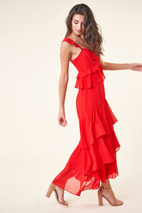 Layland Ruffle Maxi Dress