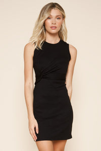 Wild One Front Twist Knit Dress
