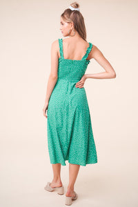 Mint Julep Polka Dot Midi Dress