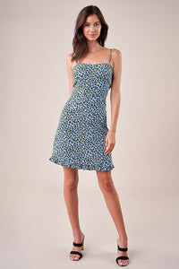 Vamos A La Leopard Print Sweetheart Dress