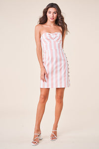 Better Now Striped Strapless Dress