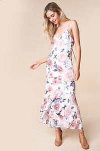 Island In The Sun Floral Hi-Low Maxi Dress