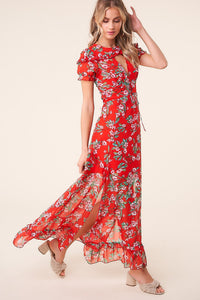 Rustic Rose Floral Maxi Dress