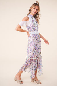 Still In Paradise Mixed Floral Maxi Dress