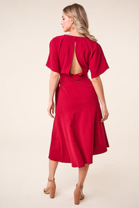 Rise Up Belted Midi Dresss