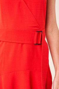 Rise Up Belted Midi Slip Dress