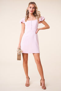 She's All That Button Front Mini Dress