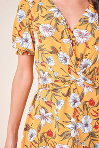 Tropical Fever Floral Twist Front Dress