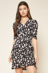 Fairly Floral Ruched Mini Dress