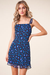 Neon Carnival Leopard Square Neck Dress