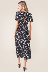 Ray Of Sunshine Floral Midi Dress