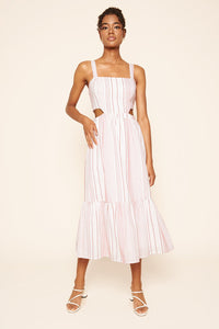 Voyager Striped Cut Out Maxi Dress