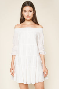 Aveda Off The Shoulder Shoulder Mini Dress