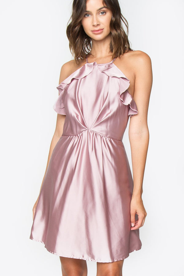 Demure Ruffle Dress