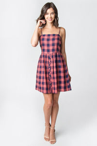 Sunset Plaid Dress
