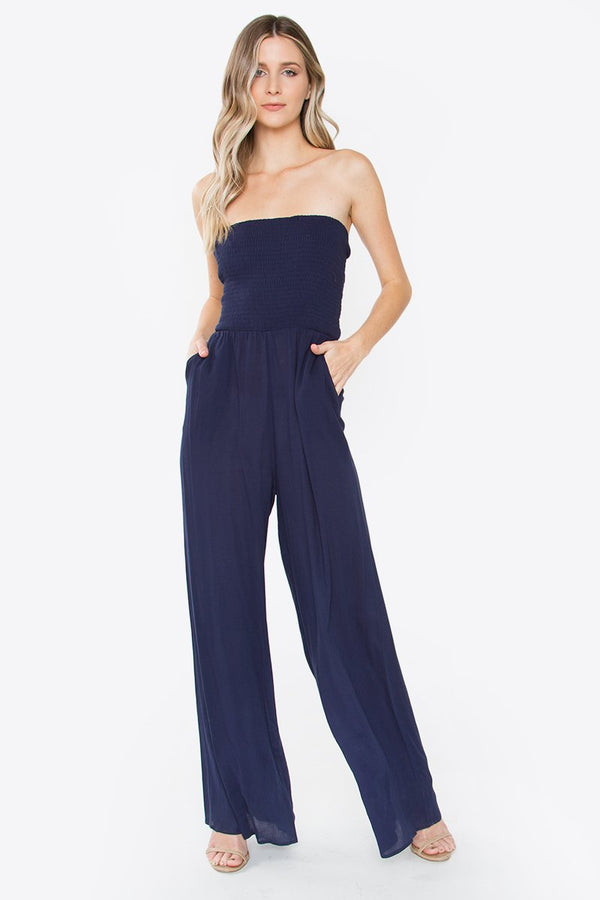 Jade Smocked Jumpsuit