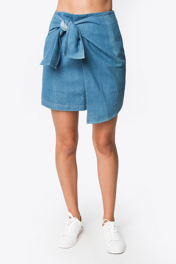 Lane Denim Mini Skirt